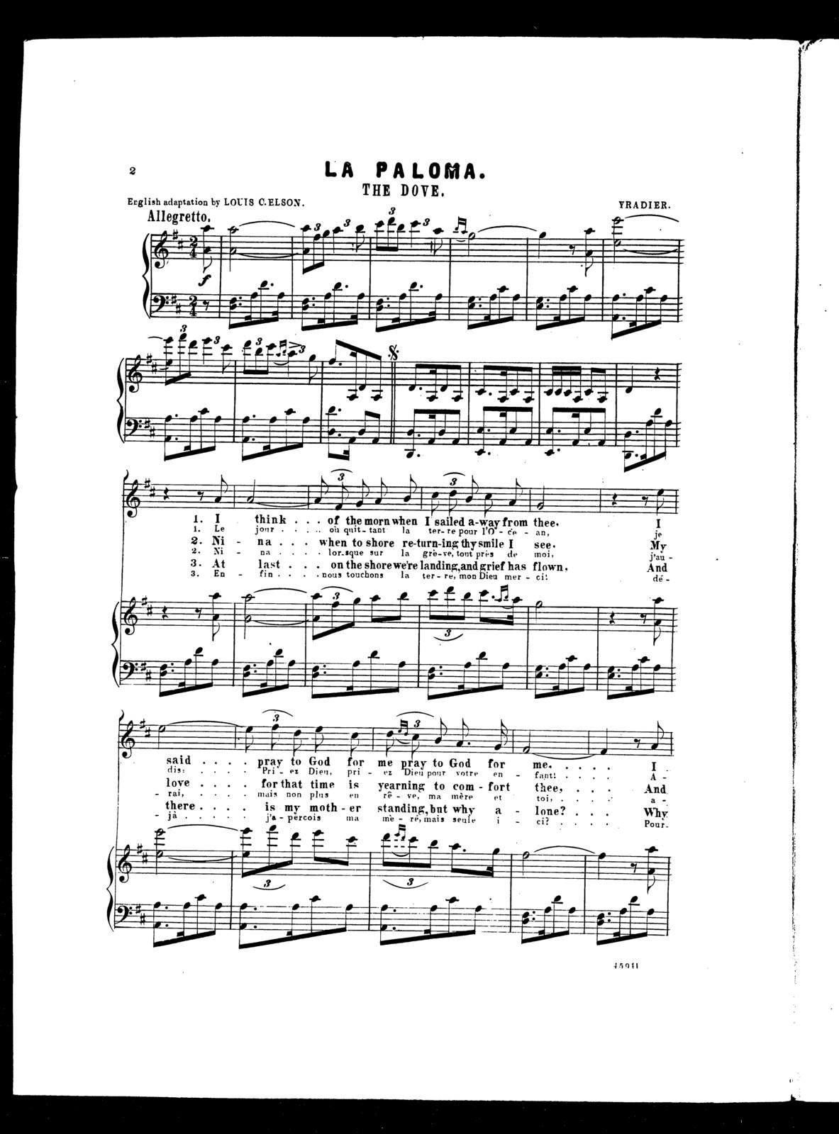 Paloma, La - The dove