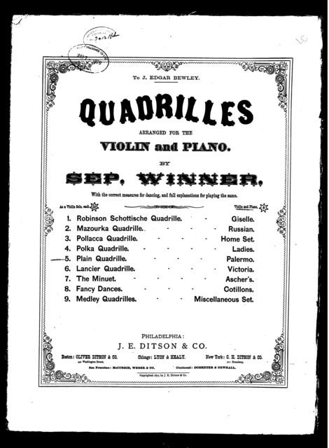Plain quadrille palermo set