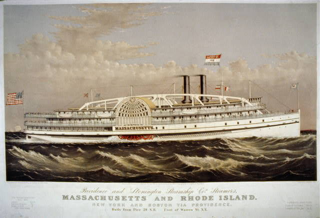 Providence and Stonington Steamship Co's. steamers, Massachusetts and Rhode Island: New York and Boston and Providence