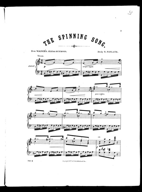 Spinning song, The [from] Flying Dutchman