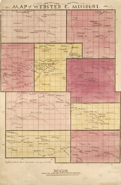 Strickland's sectional map of Webster Co., Missouri.