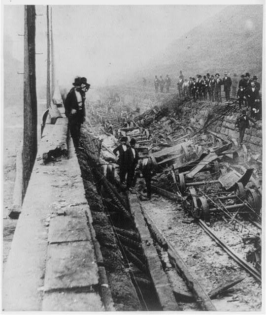 The Devastation of Railroad Equipment, Cars, and Locomotives during Railroad Riots