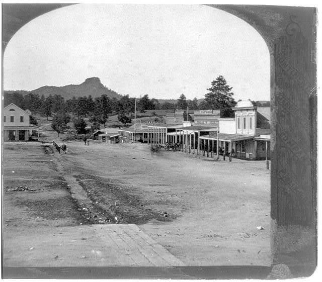 The principal street in Prescot[t],  Capitol of Arizona