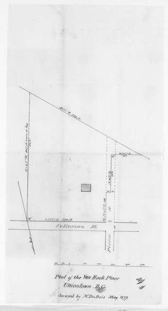 Van Hook Place, Uniontown, D.C., Plat of, 1877