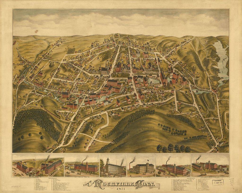 View of Rockville, Conn. 1877.