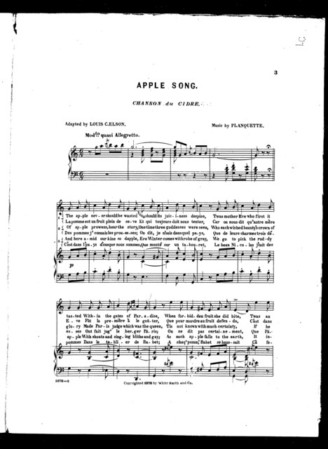 Apple song - Chanson du cidre