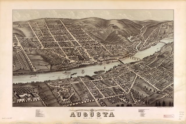Bird's eye view of the city of Augusta, Maine, 1878 /