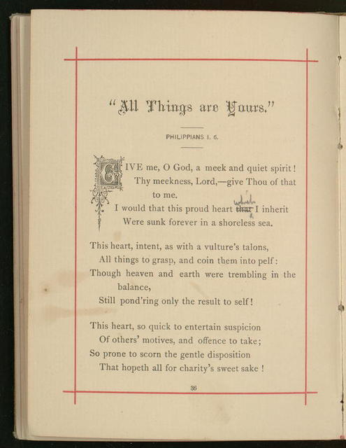 "Booklet, ""Waiting for the Morning and Other Poems"" by Horatio Gates Spafford"