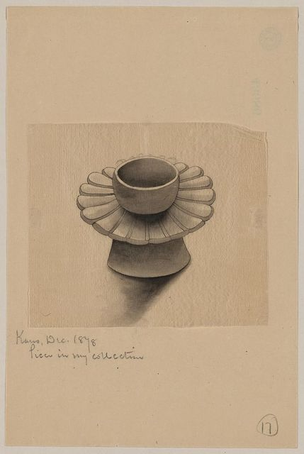 [Bowl on petal-shaped platter with conical base]