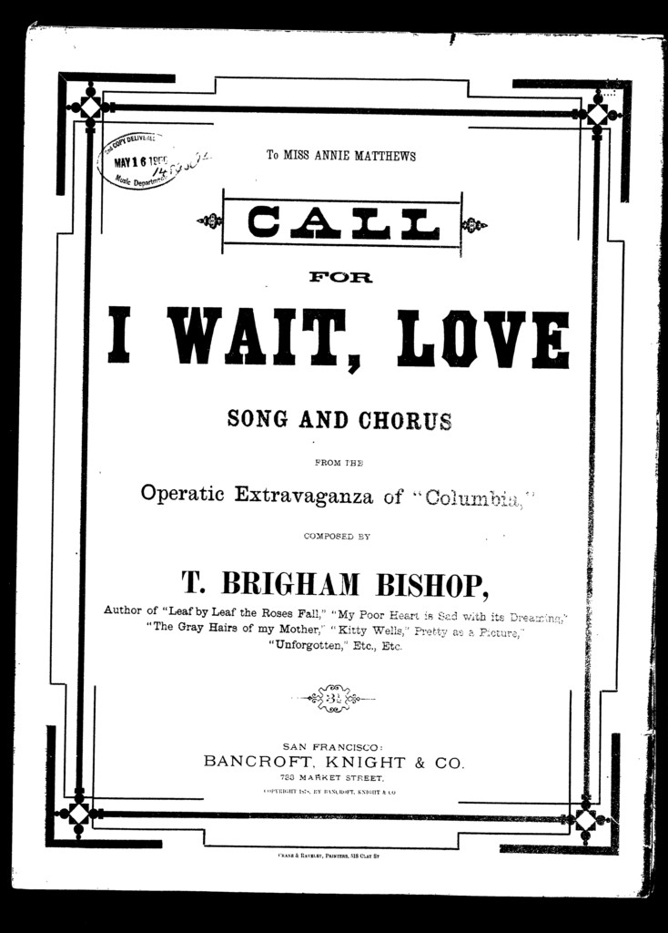 Call, for I wait, love