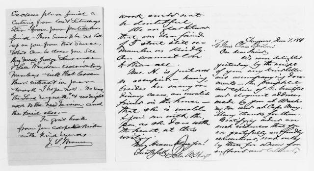 Clara Barton Papers: Red Cross File, 1863-1957; American National Red Cross, 1878-1957; Correspondence; 1878, Feb.-1888, Dec.