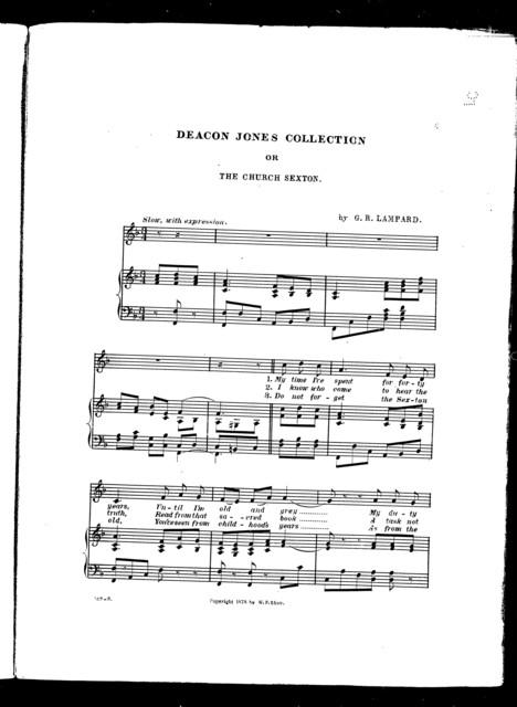 Deacon Jones collection; or, The church sexton