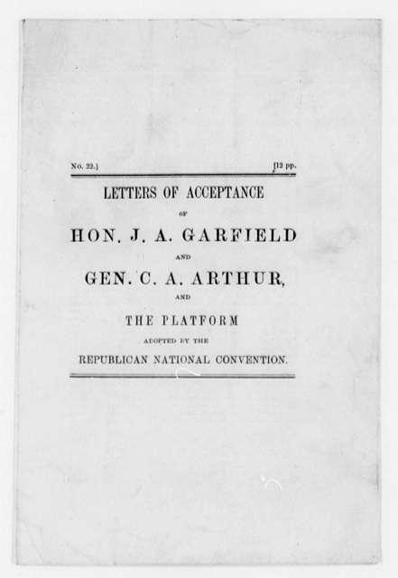 Garfield, James A. - Folder 3 of 3