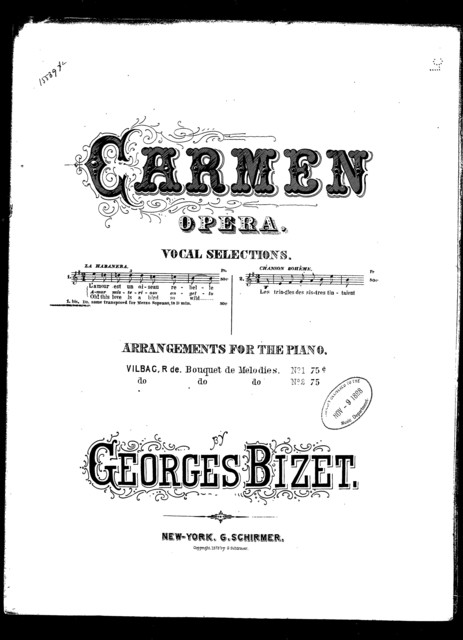 Habanera [mezzo soprano or baritone] [from] Carmen