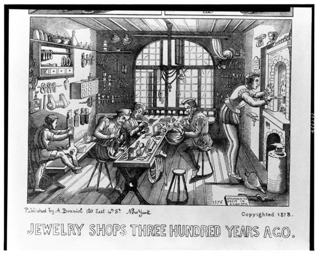 Jewelry shops three hundred years ago / AHC [monogram]