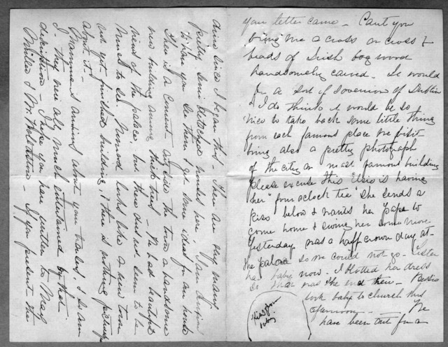 Letter from Mabel Hubbard Bell to Alexander Graham Bell, 1878
