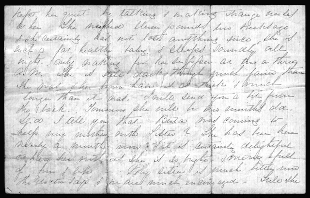 Letter from Mabel Hubbard Bell to Eliza Symonds Bell, July 7, 1878
