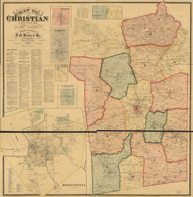 Map of Christian County, Ky. /