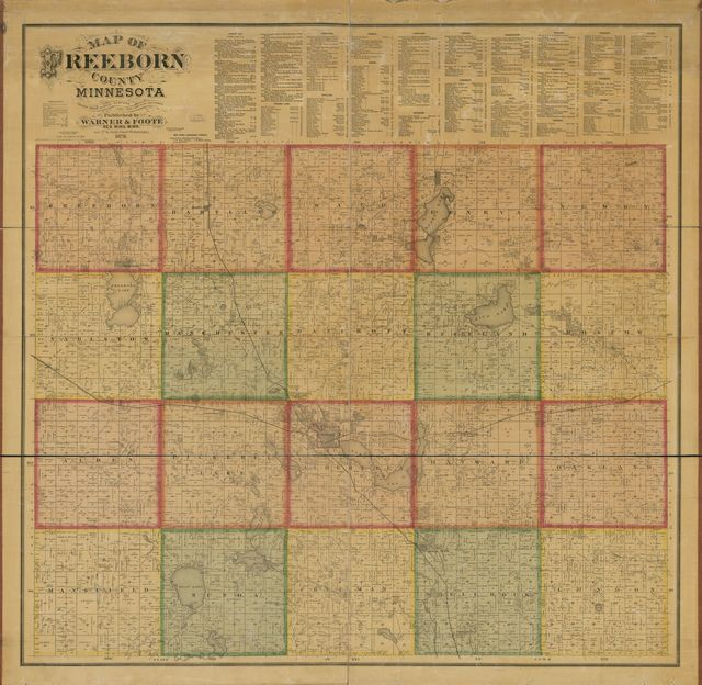 Map of Freeborn County, Minnesota : drawn from actual surveys and the county records.