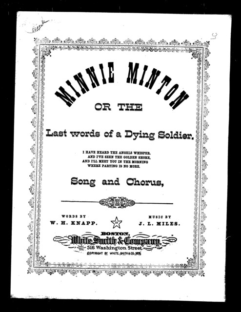 Minnie Minton; or, The last words of a dying soldier