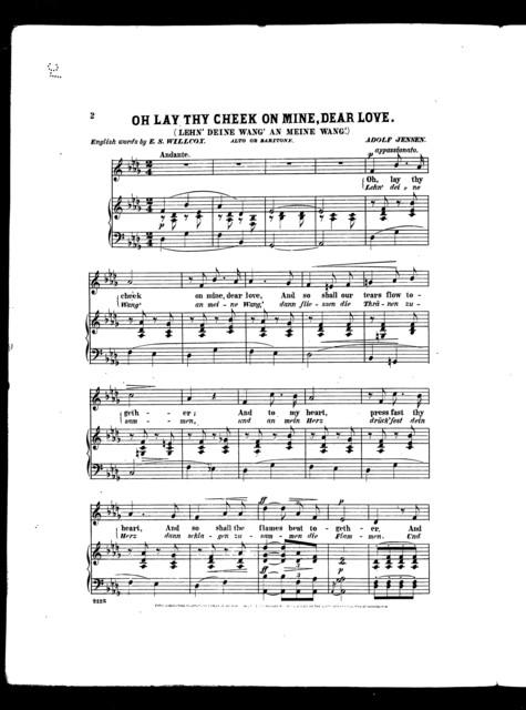 Oh lay thy cheek on mine, dear love [alto or baritone]