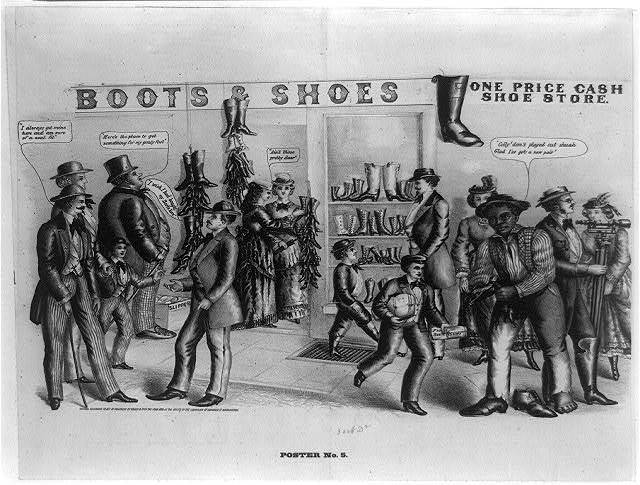 Poster no. 5 - boots & shoes, one price cash shoe store
