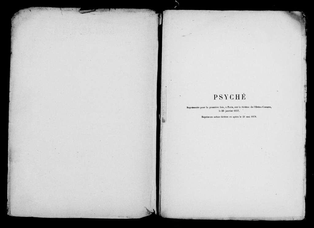 Psyché. Libretto. French