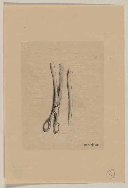 [Scissor clamps and hooked probe?]