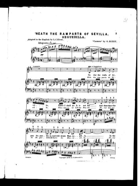 Seguedilla ('Neath the ramparts of Sevilla) [from] Carmen