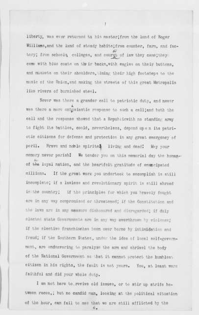 Speech delivered in Madison Square, New York, Decoration Day