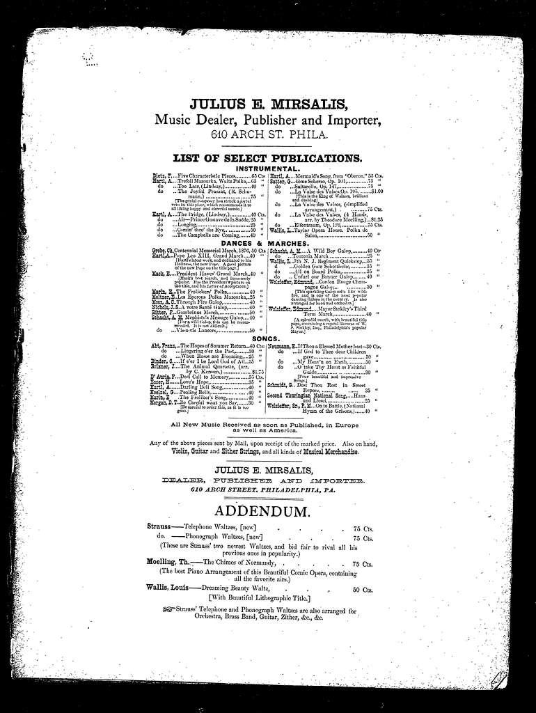 Strauss' phonograph waltzes