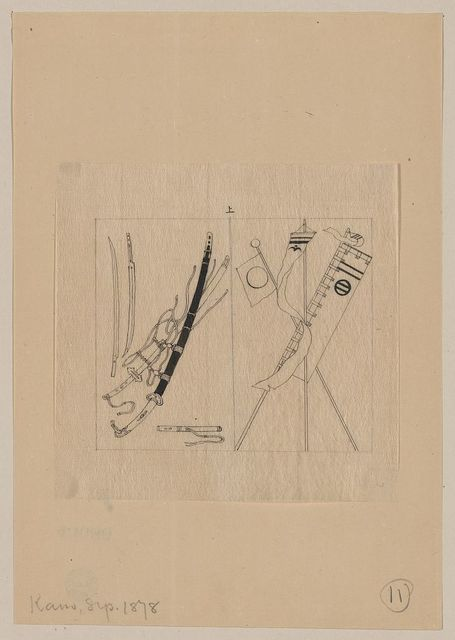 [Swords and scabbards, banners and standards]