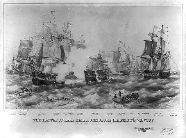 The Battle of Lake Erie, Commodore O.H. Perry's victory / Lithographed & published by J. Perry Newell, Newport, R.I.; printed by J.H. Bufford & Sons, Boston.