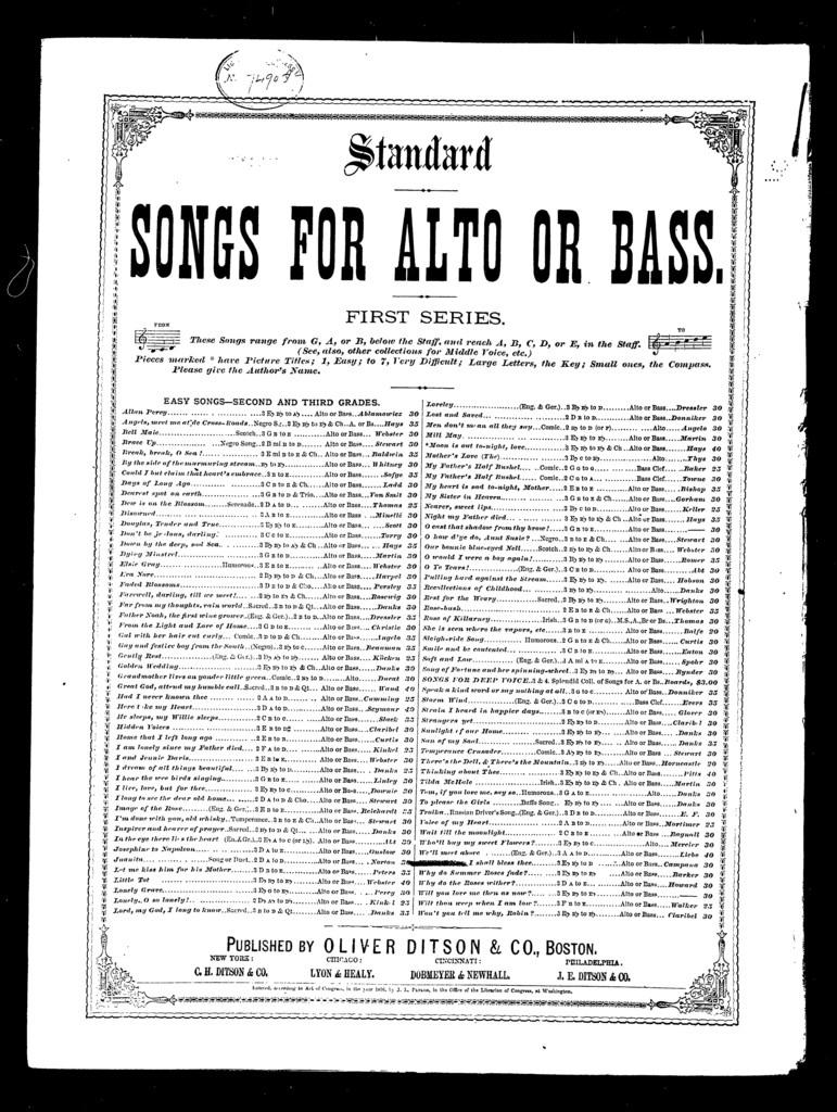 While I live I shall bless thee [alto, baritone or bass]