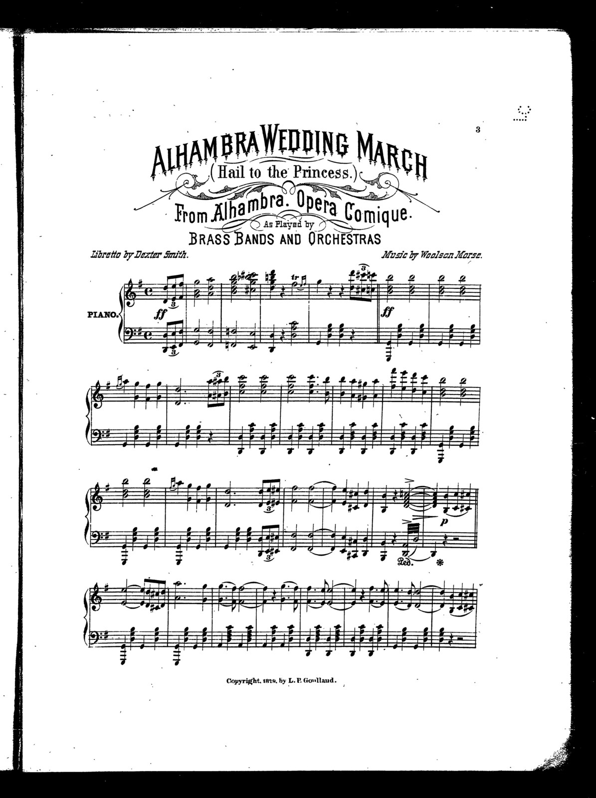Alhambra wedding march