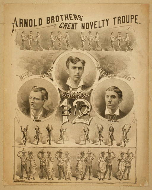 Arnold Brothers' Great Novelty Troupe original big 12.