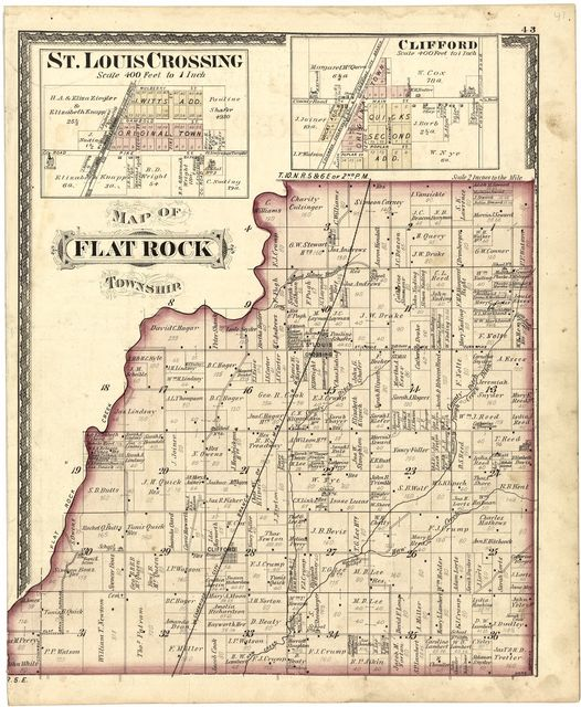 Atlas of Bartholomew Co., Indiana : to which are added various general maps, history, statistics, illustrations, & c. & c. & c.