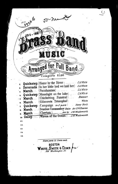 Brass band music, march [title page only]