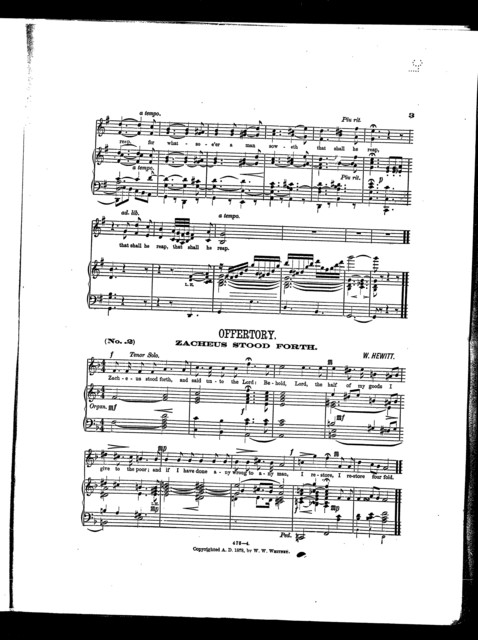 Church music for the use of quartette or chorus choir