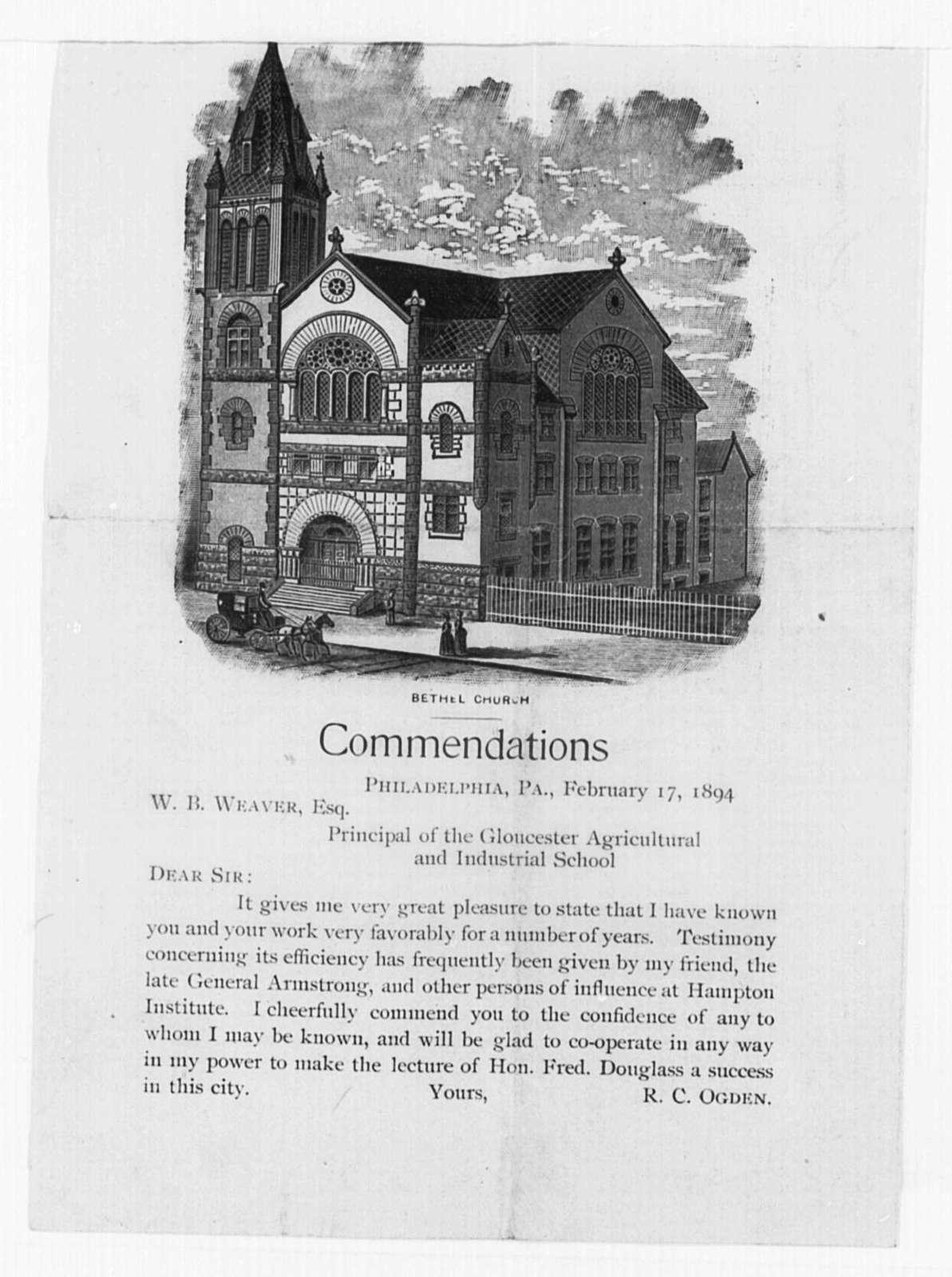 Douglass, Frederick (General) - Folder 6 of 9