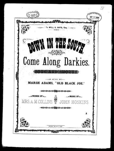 Down in the south; or, Come along darkies