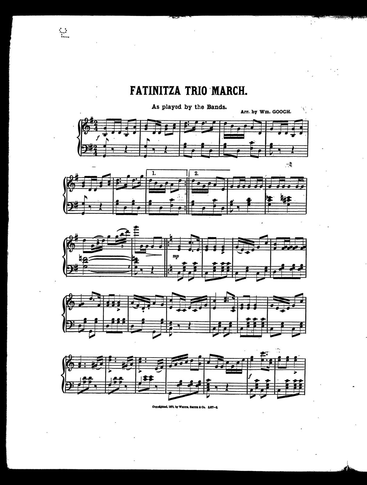 Fatinitza trio march