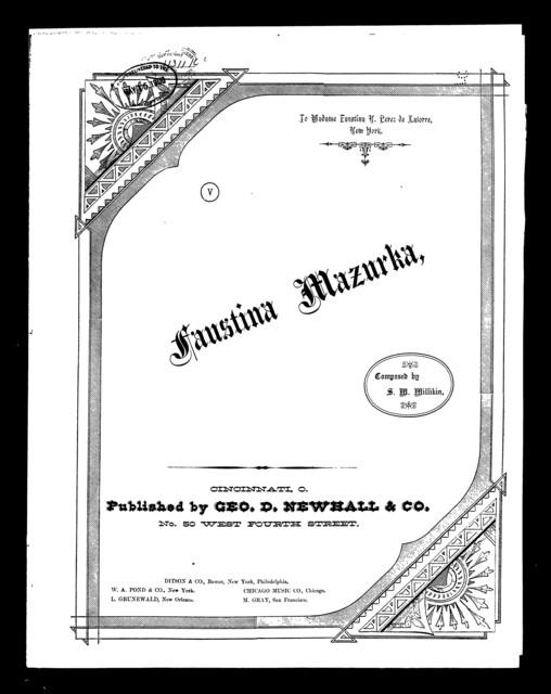 Faustina mazourka