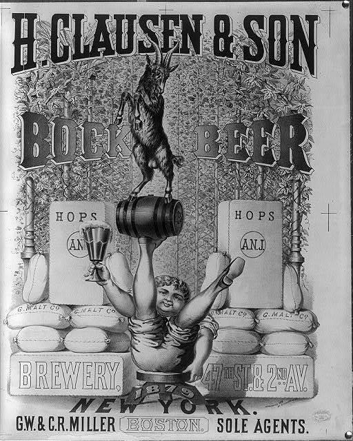 H. Clausen & Son brewery, 47th St. & 2nd Av. New York - bock beer