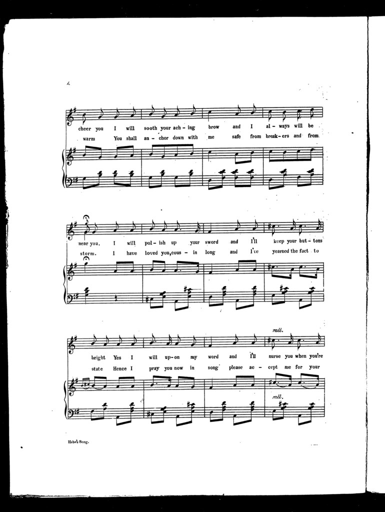 Hebe's song, introduced in H.M.S. Pinafore