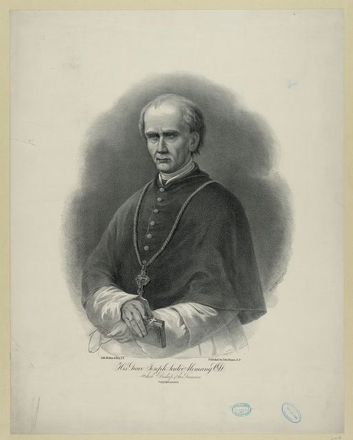 His grace Joseph Sadoc Alemany, CSD - Arch Bishop of San Francisco / H. Steinegger ; lith. Britton & Rey, S.F.