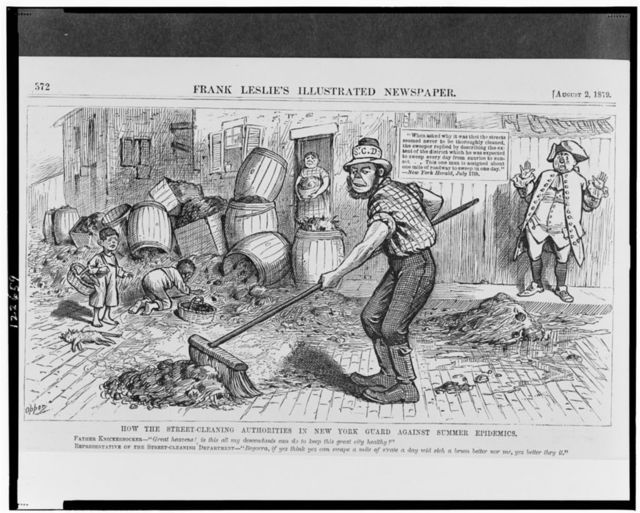 How the street-cleaning authorities in New York guard against summer epidemics / Opper.