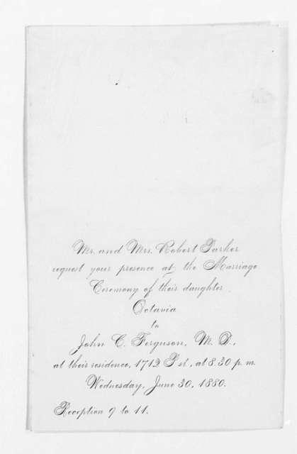 Invitation File, 1879-1881