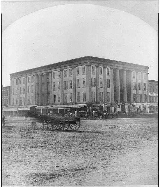 Jeff Davis spoke on the piazza of Exchange Hotel Arrived at the Exchange Hotel Ap. 28th left 30th 1879.