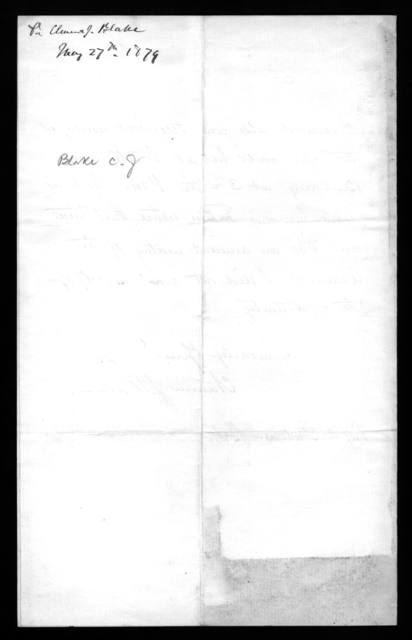 Letter from Clarence J. Blake to Alexander Graham Bell, May 27, 1879